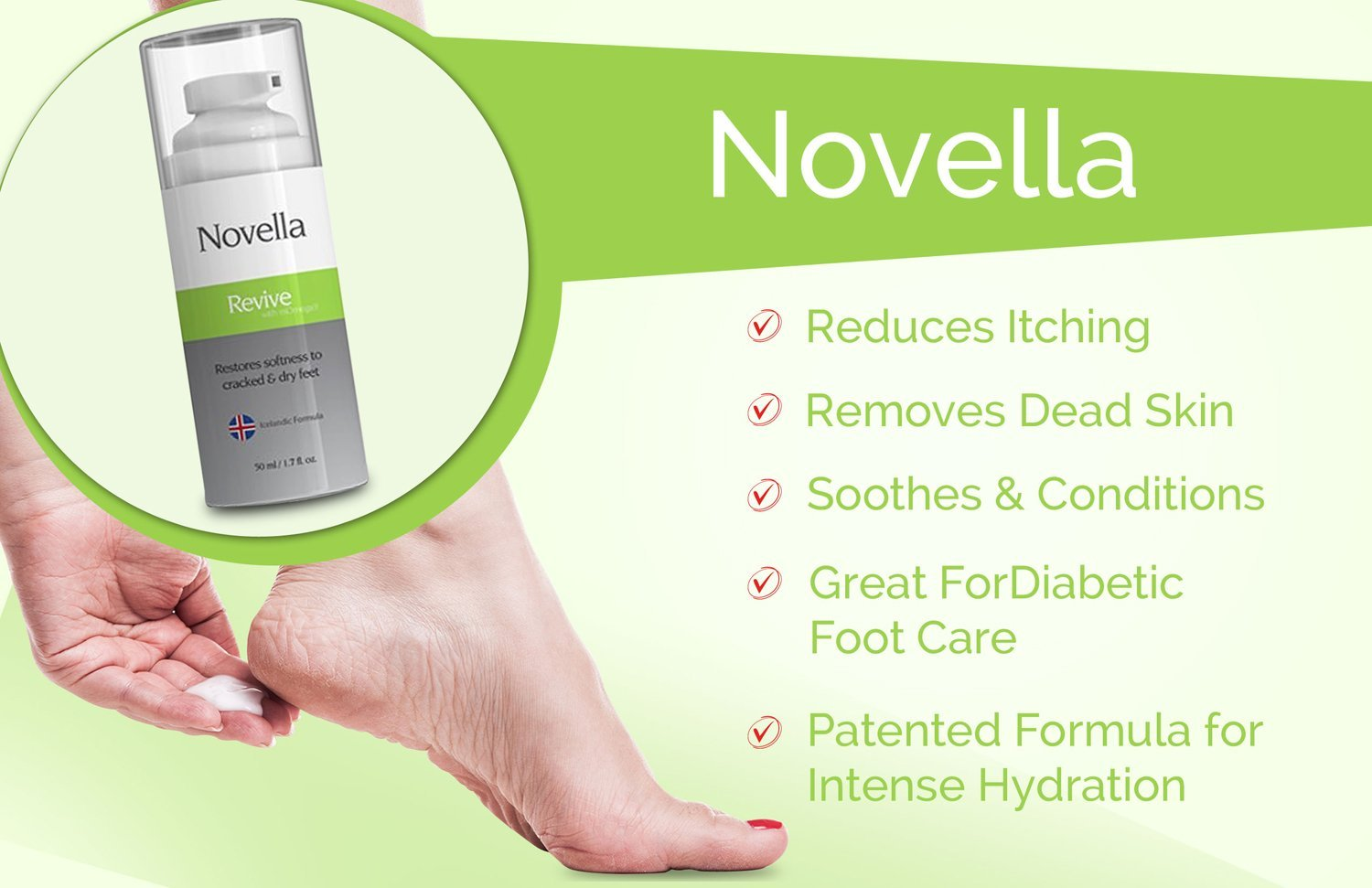 Omnipharma Launched Novella Revive Foot Care Cream
