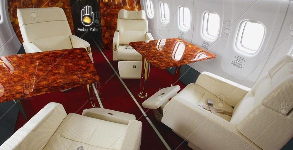 Amber Interior Design on Airplane / Aircraft