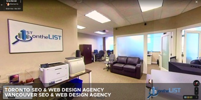 Vancouver SEO Agency 1st On The List Google Street View Virtual Tour of Office