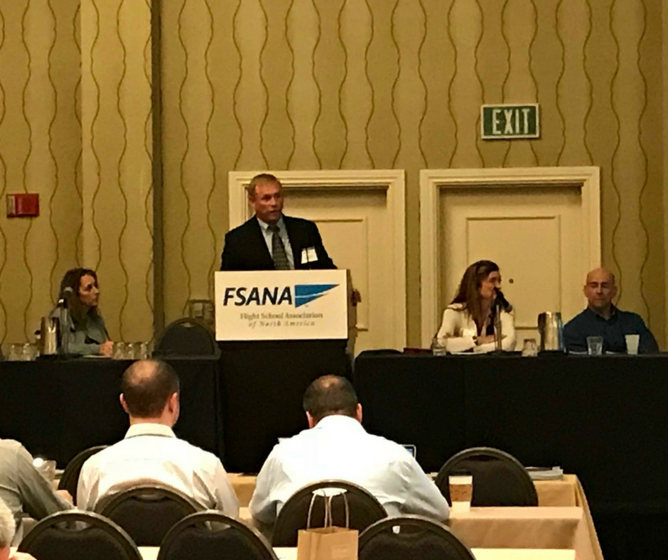 Aviation Sales Consultant Mark Leeper at the Flight School Association of North America Conference