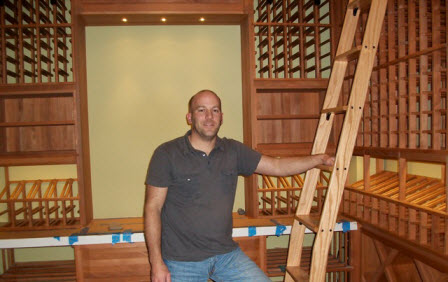 michael crowe custom home builder wine cellar