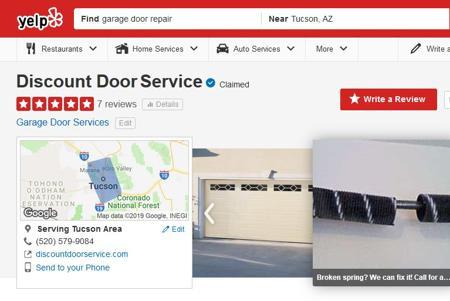 Tucson's Discount Garage Door Service 5 Star Reviews on Yelp