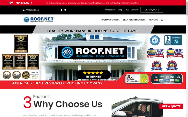 Virginia's Top Rated and Most Reviewed Roofing Contractor Roof.net