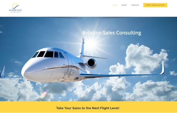 Aviation sales consulting firm SeaBright Company launches new web site