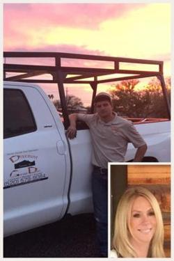 New ownership of Discount Door Service in Tucson - Melissa MacMeans and Lead Tech Eddie