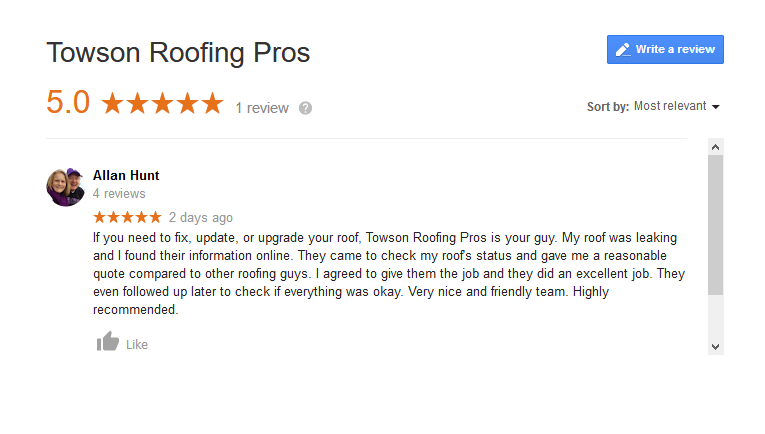 Towson Roofing Pros