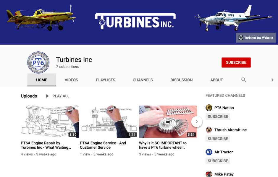 Turbines Inc YouTube Channel
