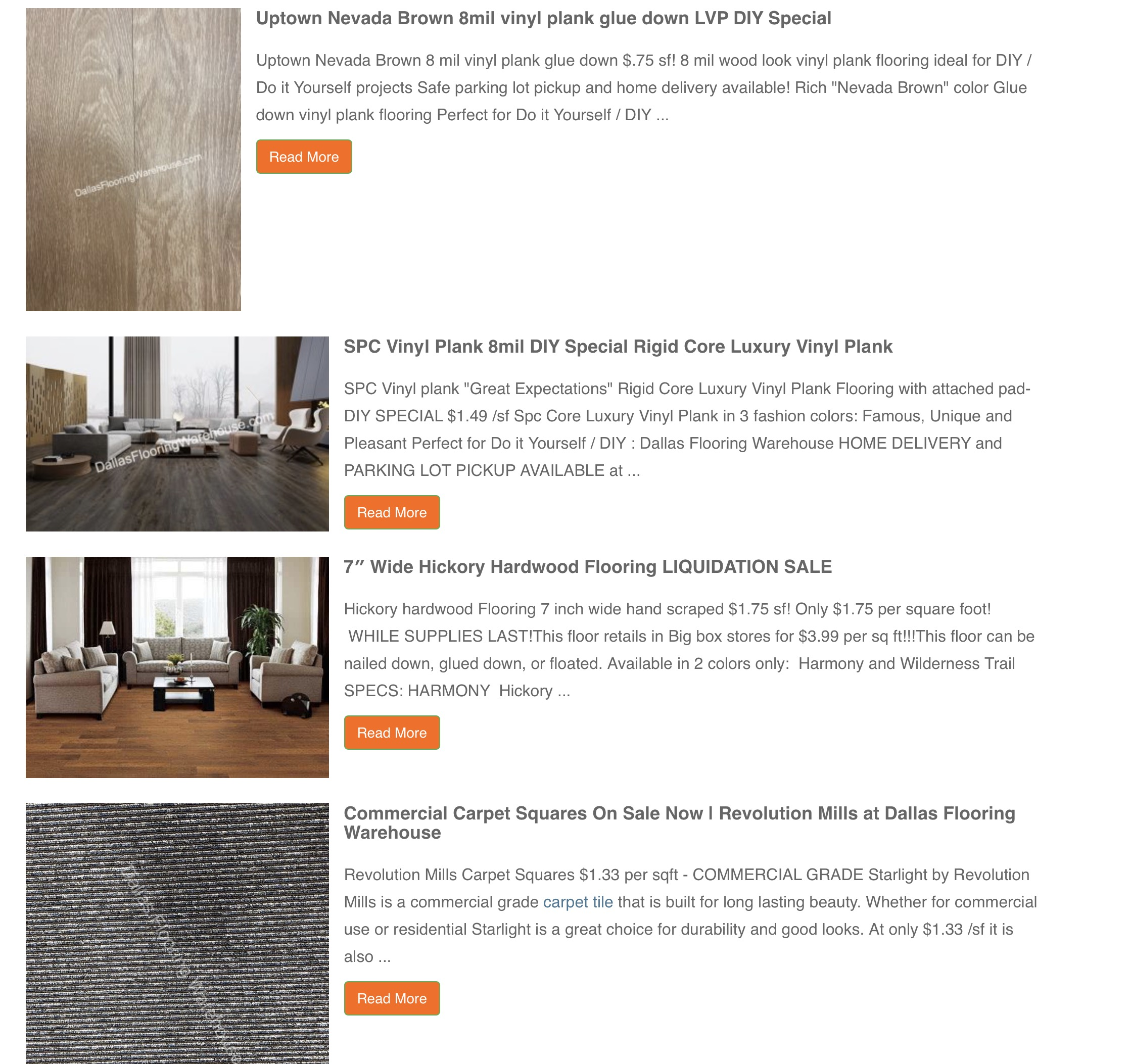 Dallas Tx Do It Yourself Flooring With No Contact Pickup