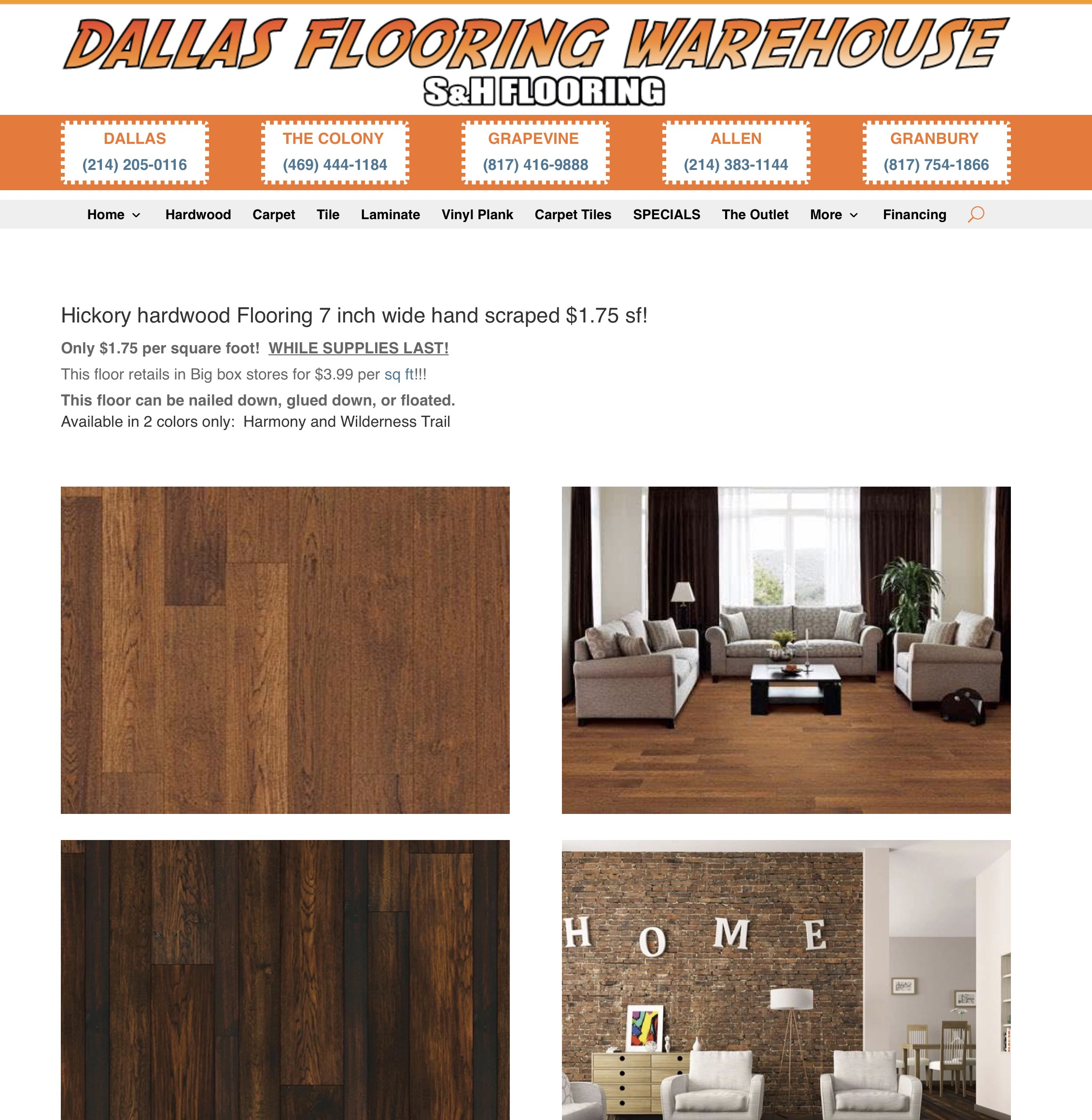dallas hickory hardwood flooring diy
